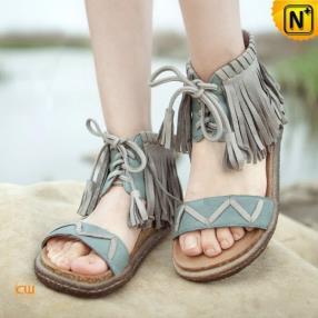 CWMALLS Designer Leather Fringe Sandals CW305228