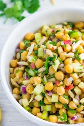 Apple Chickpea Salad Recipe -ChefDeHome.com