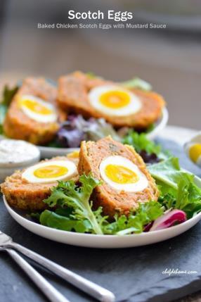 Giant Baked Chicken Scotch Eggs - Indian Nargisi Kofta Recipe - ChefDeHome.com