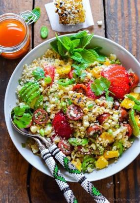 Mexican Street Corn Quinoa Salad Recipe -ChefDeHome.com