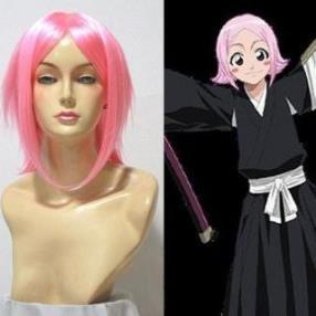 Bleach 11th Division Kusajika Yachiru Pink Cosplay Wig
