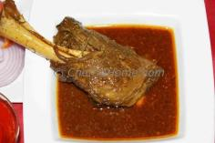Lamb Shank Indian Style Caramelized Onion Curry