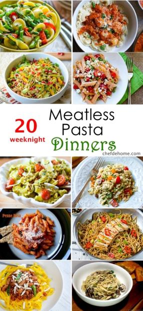 20 Weeknight Meatless Pasta Dinner Ideas Meals - ChefDeHome.com