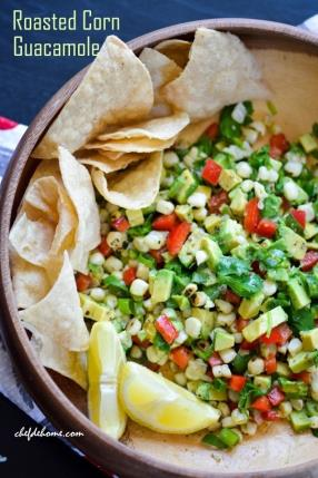 Zesty Roasted Corn Guacamole Recipe -ChefDeHome.com