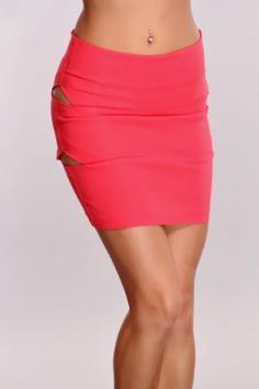 Rose High Waist Slit Sides Skirt for a sleek look and flirty style