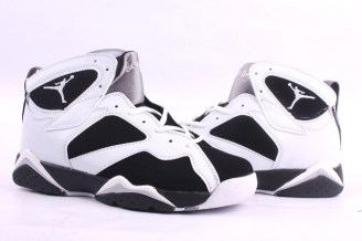 Cheap Nike Air Jordan 7 White Black Mens Retro Shoes