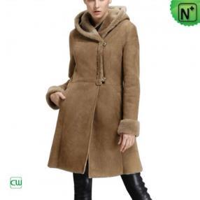 Women Long Shearling Coat CW640239
