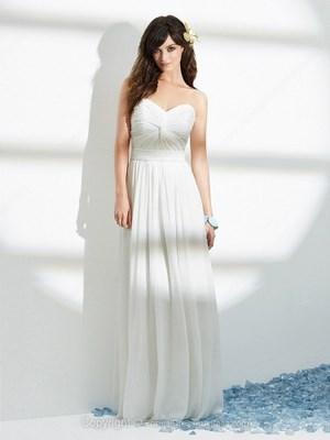 A line Chiffon Sweetheart Pleats Floor-length Formal Dresses