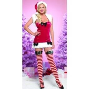 Hot Sexy Missy Claus Dress Women Christmas Costume