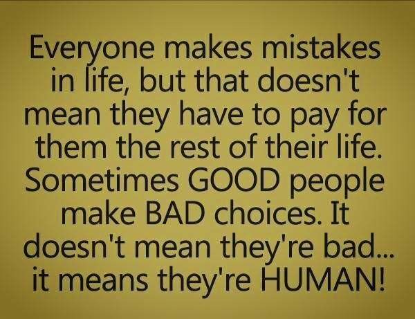Everyone makes mistakes!!