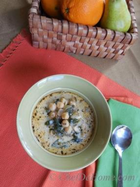 I just had the last of this delicious Chickpeas and Spinach Soup for lunch today. I will tell you this soup freezes well, so you can make a big batch and portion it out for a yummy soup anytime.