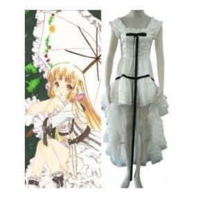 Chobits Chi White Womens Cosplay Costume--CosplayDeal.com