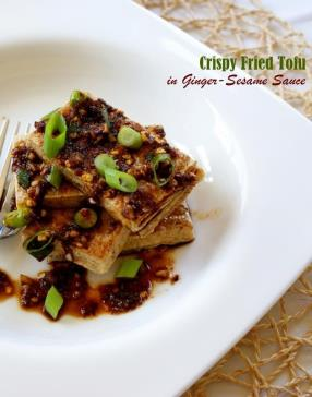 Crispy Fried Tofu with Ginger-Sesame Sauce Recipe - ChefDeHome.com