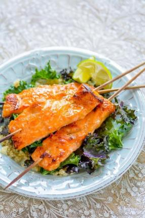 Miso Ginger Salmon with Kale and Quinoa Recipe - ChefDeHome.com