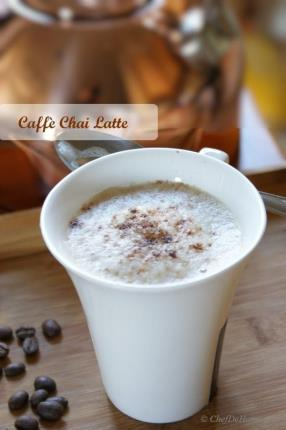 Experience a strong black tea with extra kick from Coffee with my Coffee Chai Latte. A special treat for strong Chai lovers (with nice touch of coffee). I am fond of having a strong cup of hot Masala