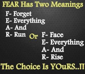 I choose FEAR