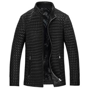 CWMALLS Custom Quilted Leather Bomber Jacket CW850009