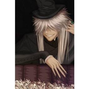 Kuroshitsuji Under Taker Long Cosplay Wig