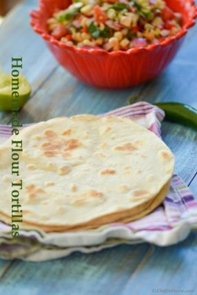 Homemade Flour Tortillas Recipe -ChefDeHome.com