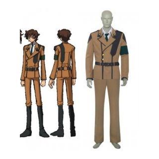 Code Geass Suzaku Kururugi Uniform Cosplay Costume