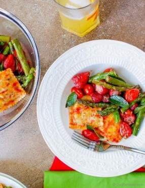Oven Roasted Asparagus and Ravioli Pasta Salad  Recipe - ChefDeHome.com