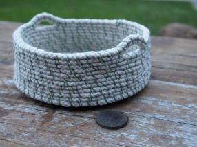 Handmade gift - rope coil basket - so beautiful