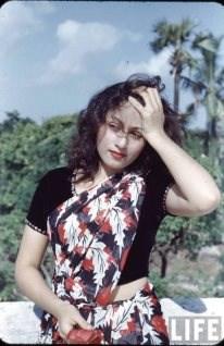 Rare Colored Photo of Gorgeous Madhubala
