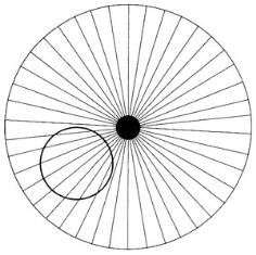 In spite of what your eyes are telling you, the smaller off-center circle is actually perfectly round
