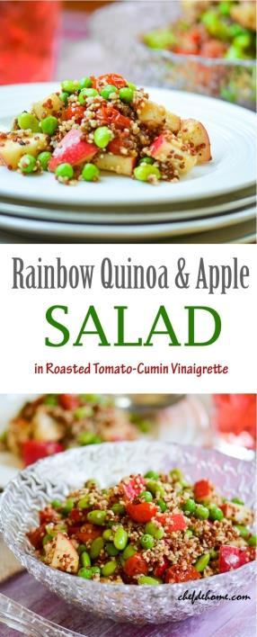Rainbow Quinoa and Apples Salad with Roasted Tomato-Cumin Vinaigrette Recipe - ChefDeHome.com
