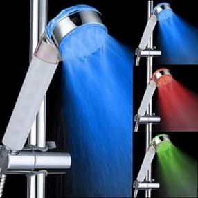 Top Spray Shower Head Bathroom Showerheads With Color Changing LED Light--Faucetsmall.com