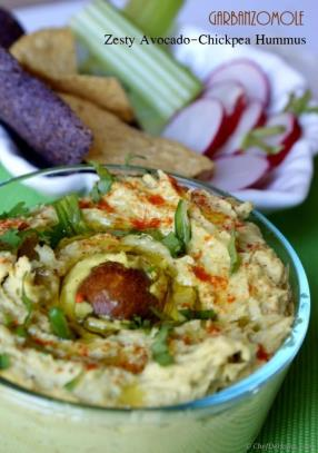 Zesty Avocado and Chickpea Hummus - Garbanzo-mole Recipe