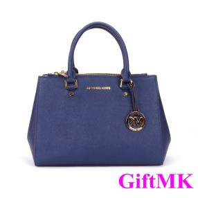 2014 Original Cross Pattern Dark Blue Killer Michael Kors Handbags Womens Hot Sale