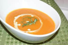 On a cool autumn evening, there is nothing better than a piping hot bowl of homemade tomato soup!
