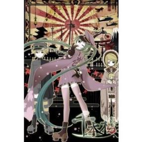 Vocaloid Senbonzakura Kagamine Rin Kimono Cosplay Costume--CosplayDeal.com