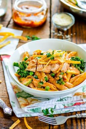 Spicy Chicken Chipotle Cream Sauce Pasta Recipe - ChefDeHome.com