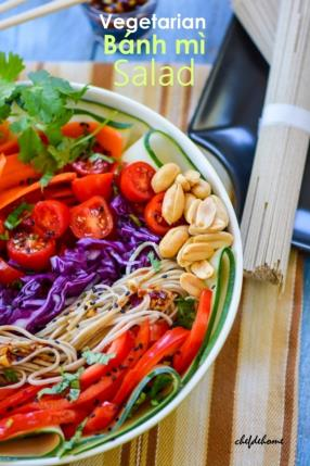 Asian Vegetarian Banh Mi Salad Recipe - ChefDeHome.com