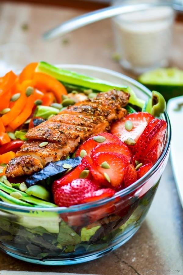Blackened Chicken Chopped Salad Recipe -  ChefDeHome.com