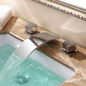 Two Handle Waterfall Basin Mix Tap--Faucetsmall.com