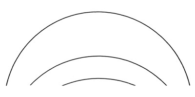 Which arc comes from the largest circle?