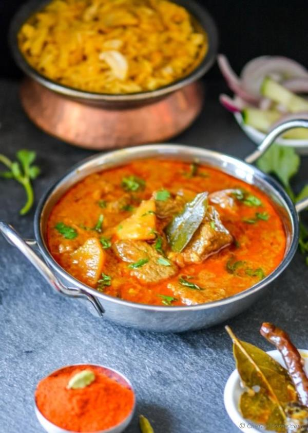 Lamb Rogan Josh - Indian Kashmiri Mutton(Lamb) Curry Recipe -ChefDeHome.com