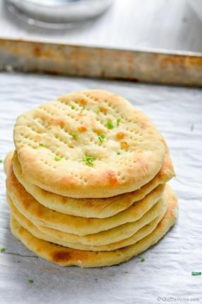 Quick Oven Baked Naan Bread Recipe -ChefDeHome.com