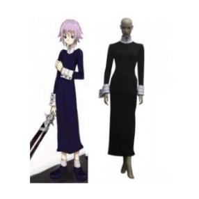 Soul Eater Crona Black Long Dress Cosplay Costume