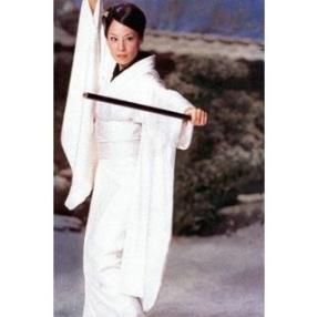 Kill Bill O-Ren Ishii White Kimono Cosplay Costume--CosplayDeal.com