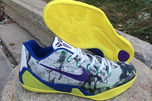 72d22708cb6 Zoom Kobe 9 EM Low-Top Basketball Sneakers in Colorway Yellow Gr ...